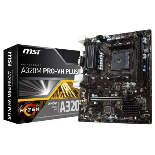 PLACA MSI A320M PRO-VH PLUS,AMD,,2DDR4,32GB,VGAHDMI,4SATA3,4USB3.1,MATX