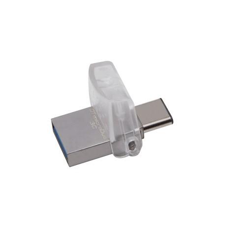 Kingston Technology DataTraveler microDuo 3C 64GB 64GB USB 3.1 (3.1 Gen 2) Type-A/Type-C Negro unida