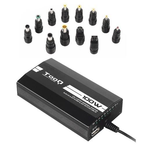 TooQ CARGADOR UNIVERSAL PORTATIL TQLC-100BS01M 100W 3 EN 1 USB