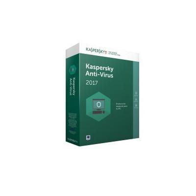 Kaspersky Lab Anti-Virus 2017 3usuario(s) 1año(s)